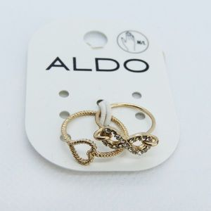 Aldo Gold Rings - Infinity and Heart